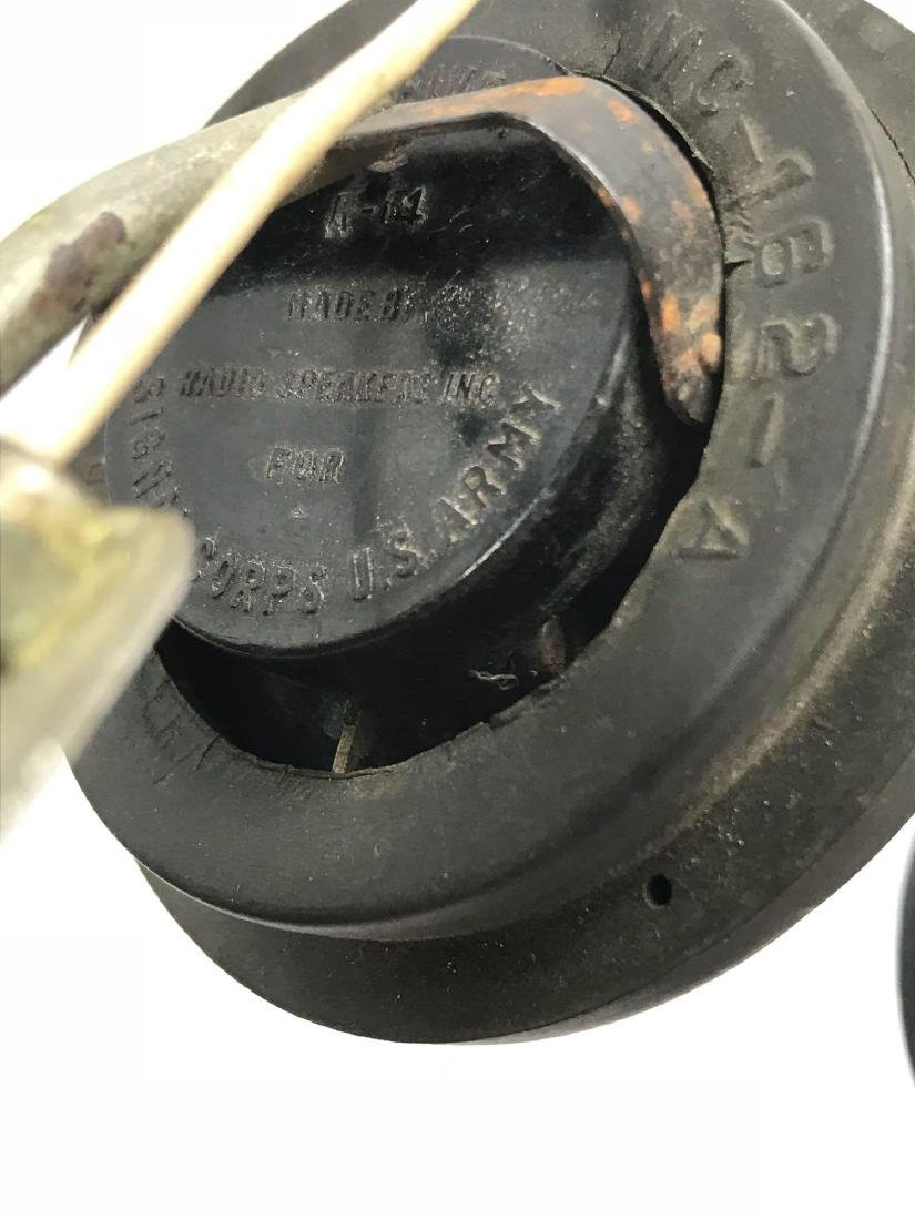 WWII Signal Corps U.S. Army Radio Headphones - 12