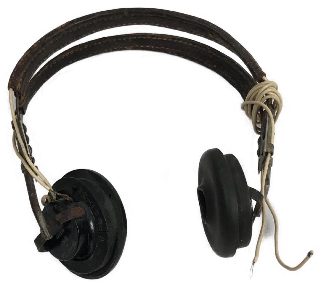 WWII Signal Corps U.S. Army Radio Headphones