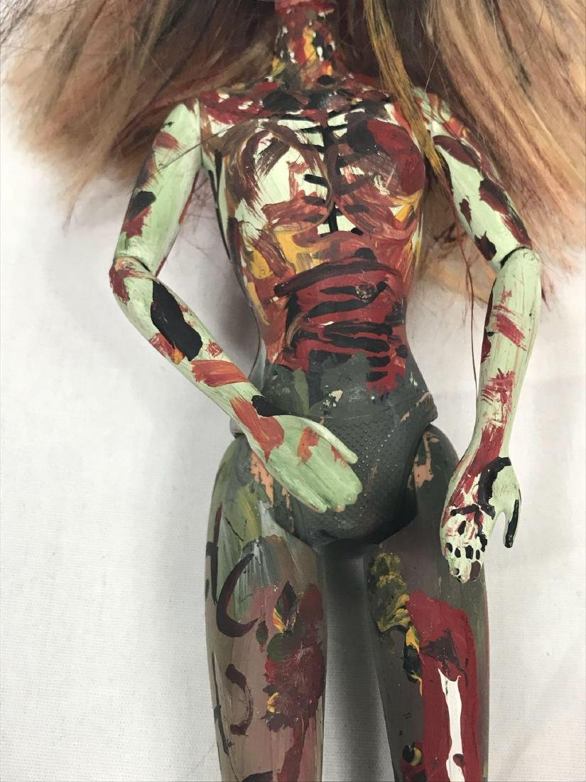 Two Halloween/Day of the Dead Hand-painted Barbie Dolls - 10