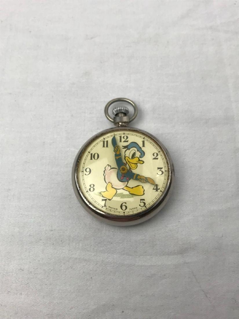 Vintage Donald Duck Working Pocket Watch - 2