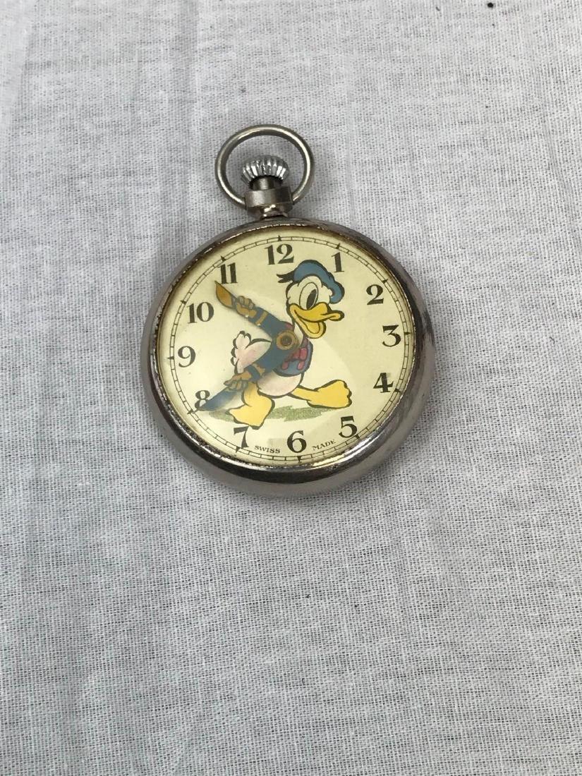 Vintage Donald Duck Working Pocket Watch - 5