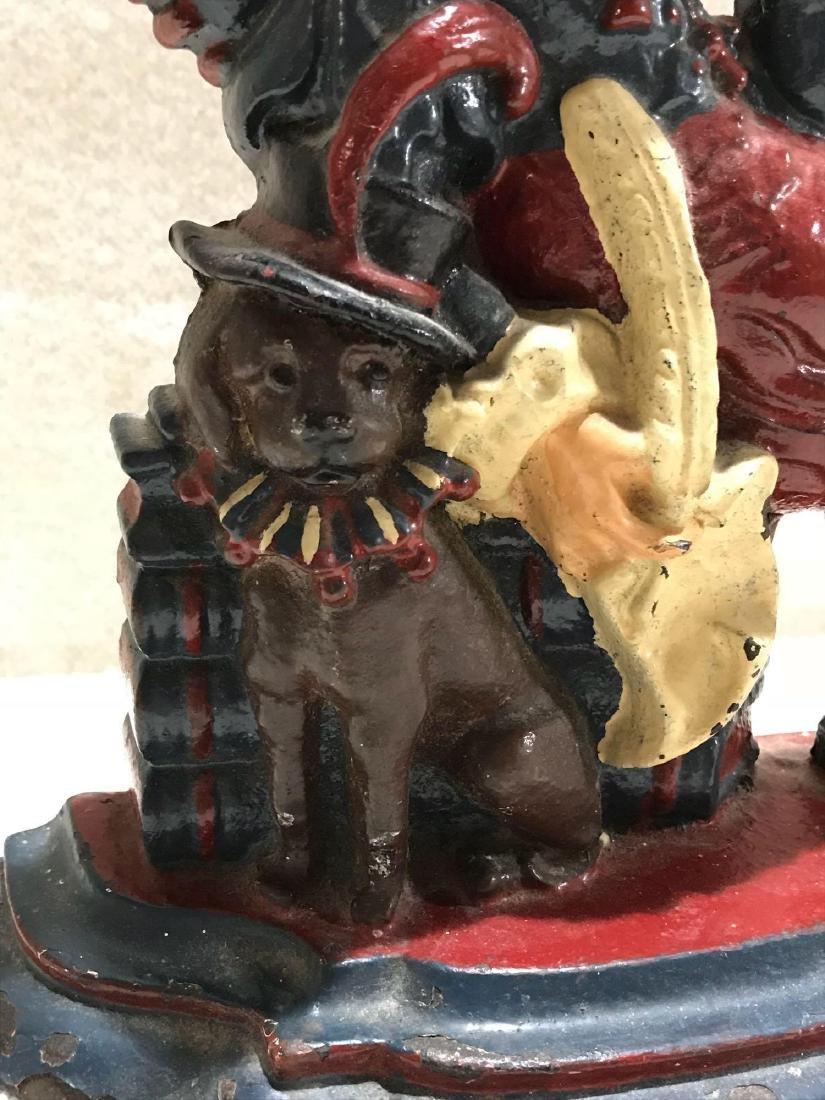 Antique Cast Iron Punch Doll Doorstop Britain - 3