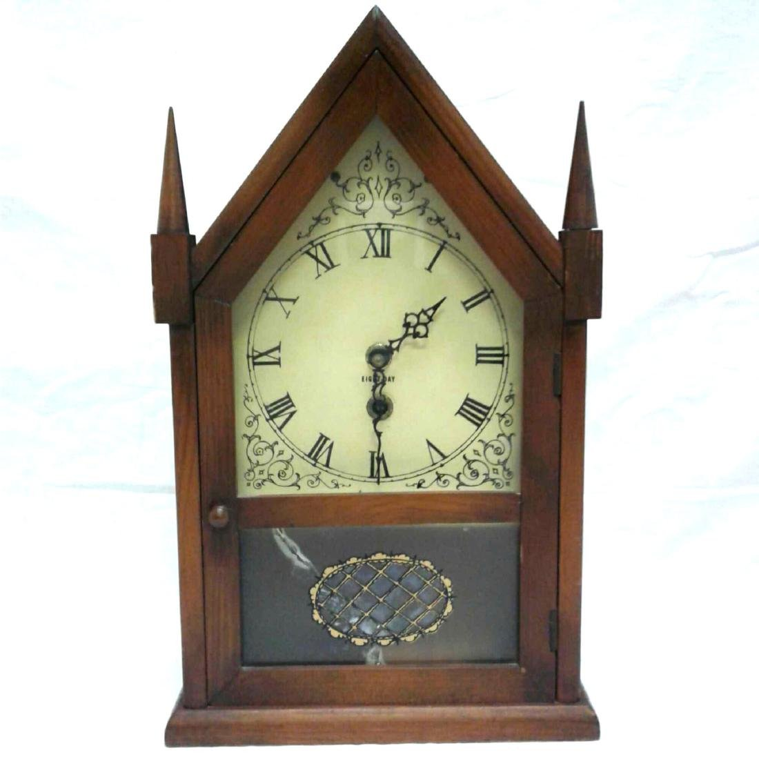 Antique Eight Day Winding Mantle Clock