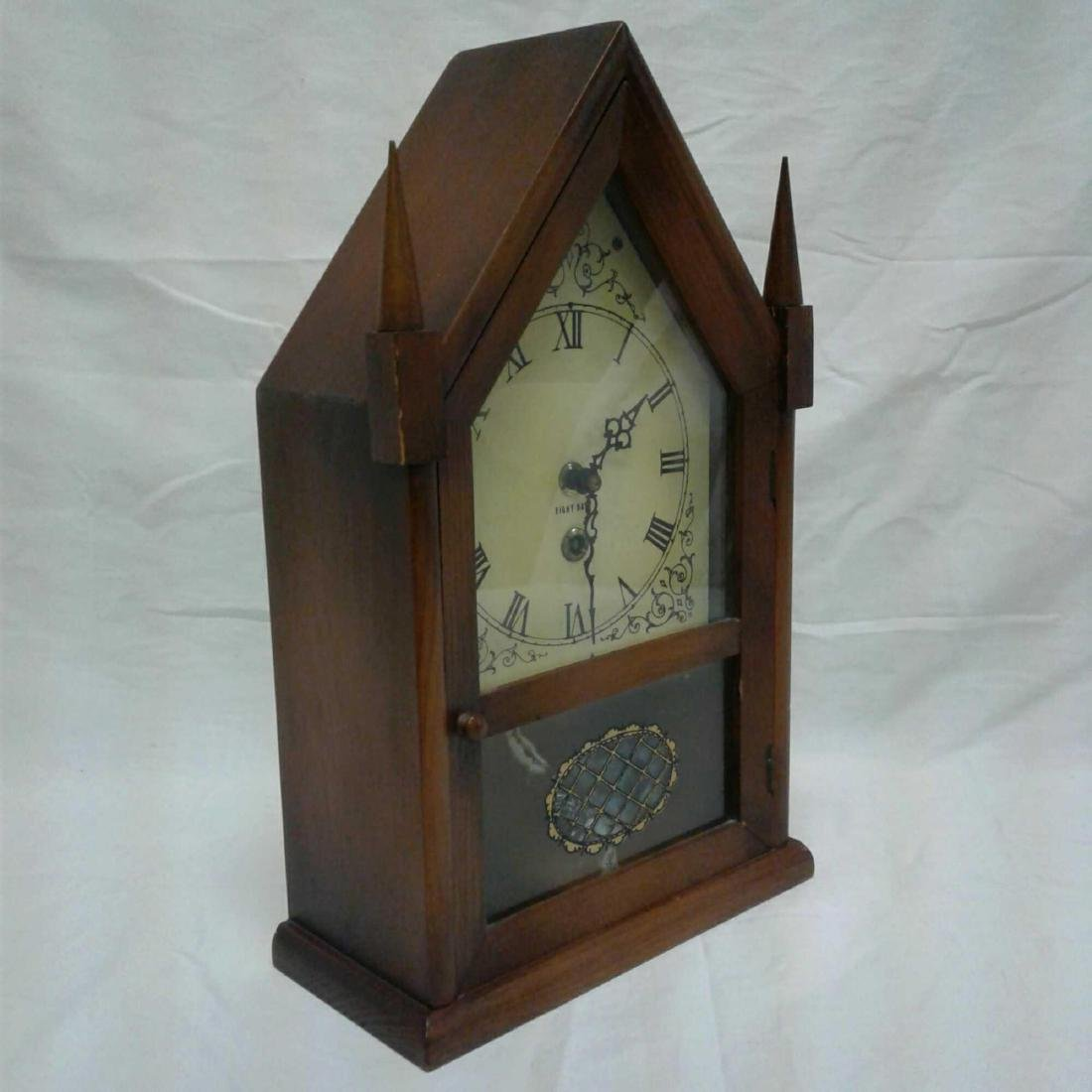 Antique Eight Day Winding Mantle Clock - 2
