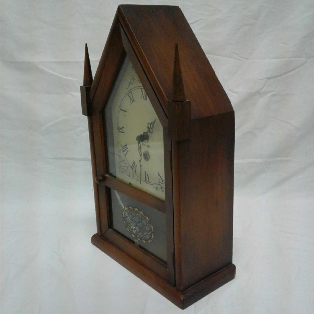 Antique Eight Day Winding Mantle Clock - 6