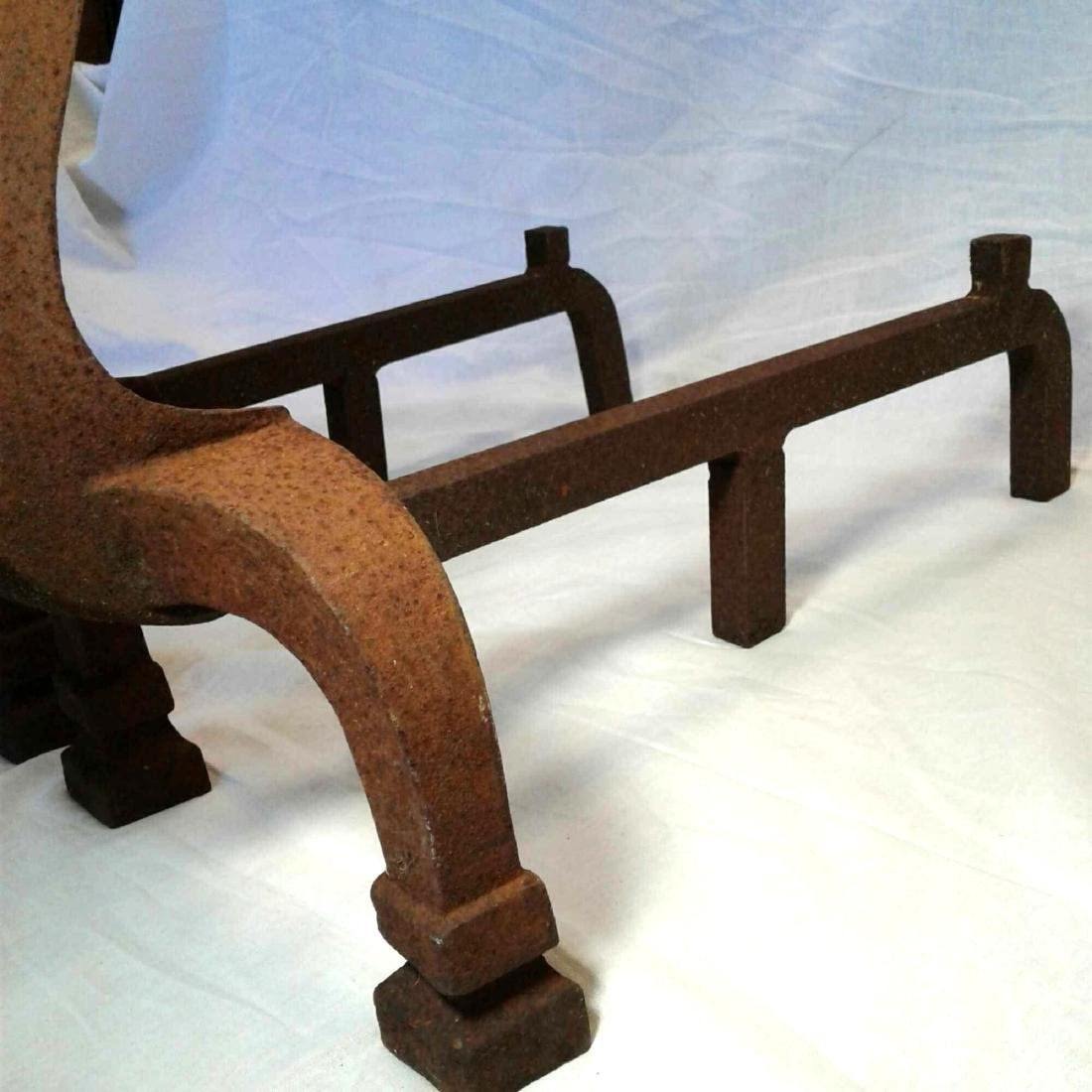 Antique Fireplace Andirons - 11