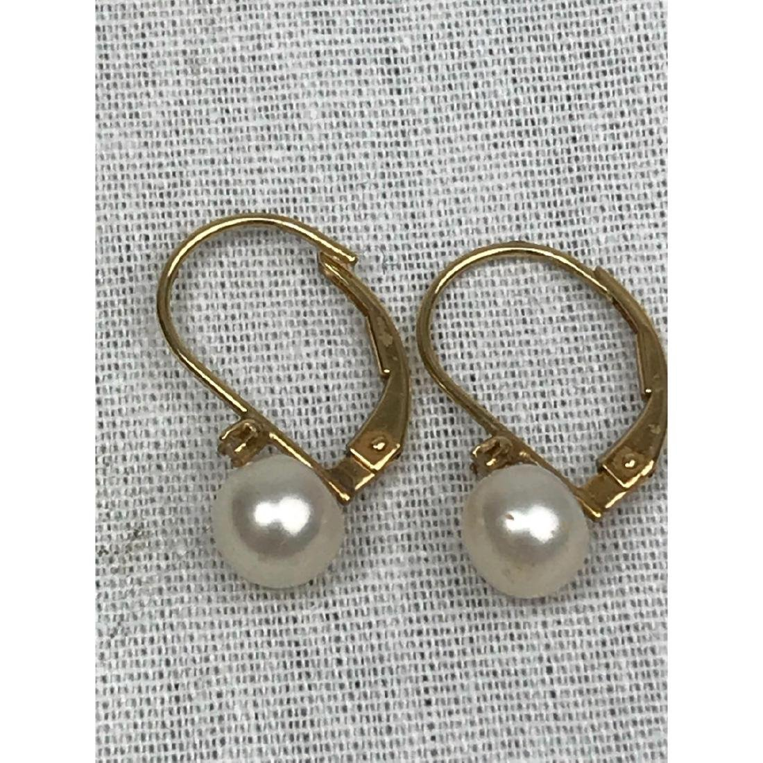 14K Gold and Pearl Earrings - 3
