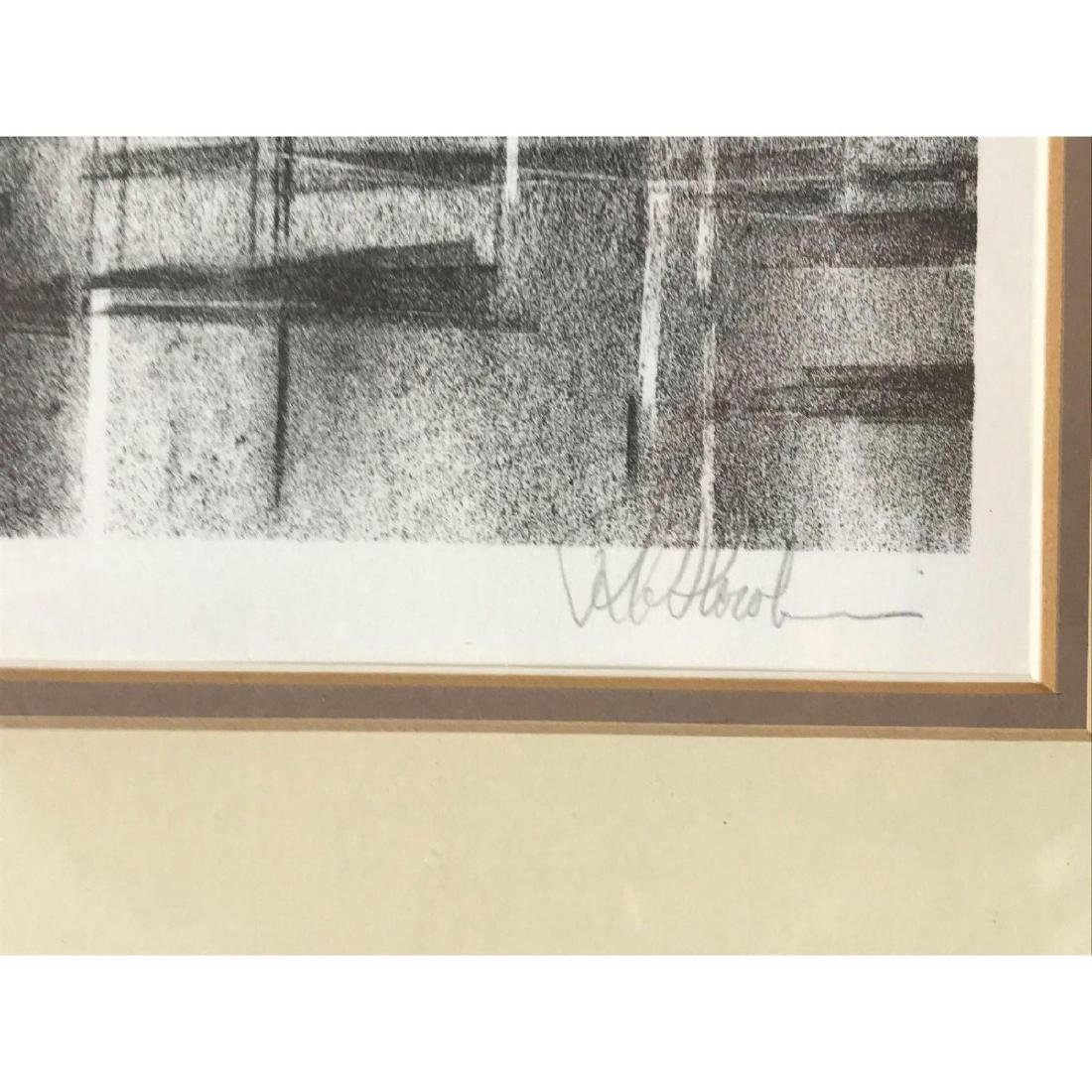 A Stunning Monotone Print of Boat Sails, Signed - 5
