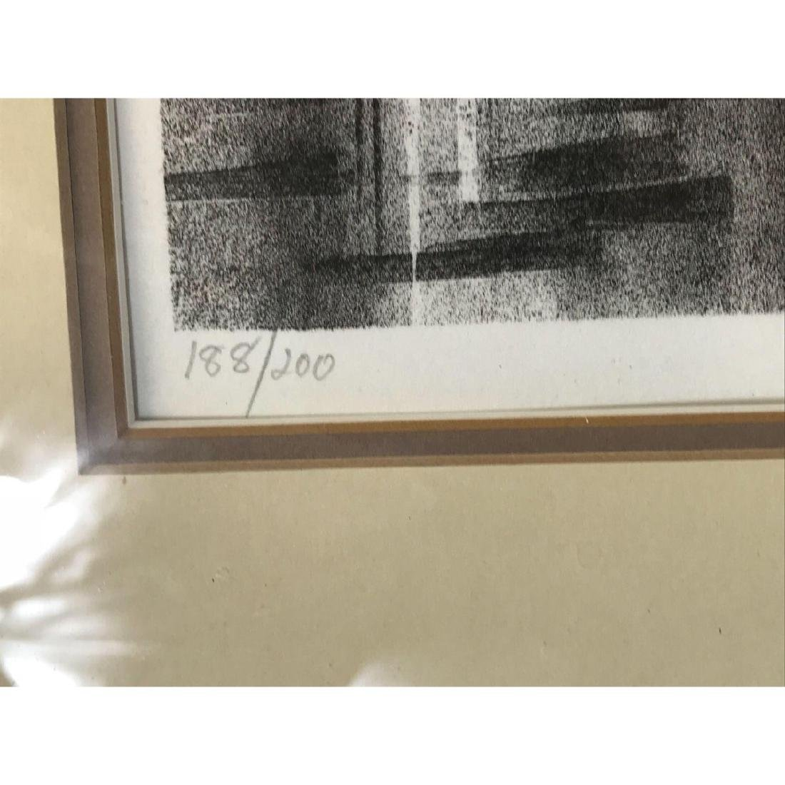 A Stunning Monotone Print of Boat Sails, Signed - 6