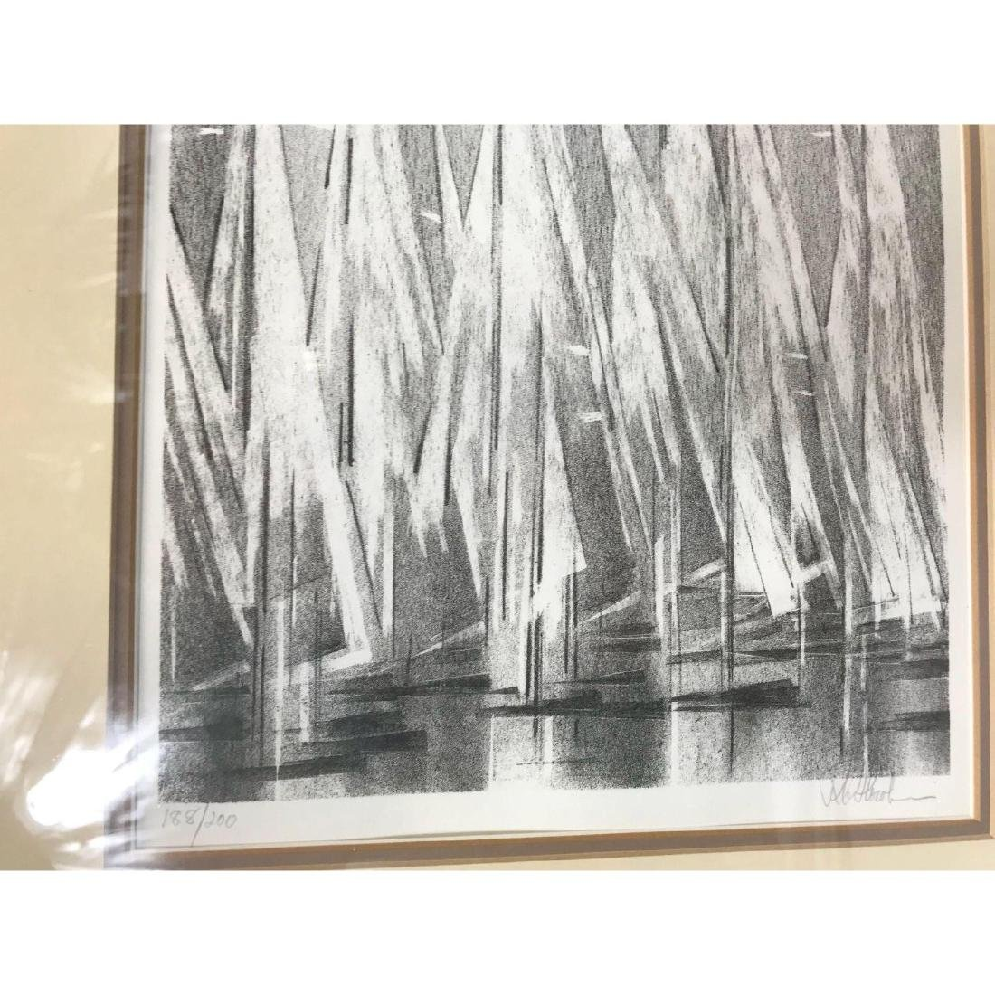A Stunning Monotone Print of Boat Sails, Signed - 7