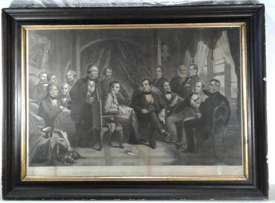 "Framed Print of ""Washington Irving and His Literary"