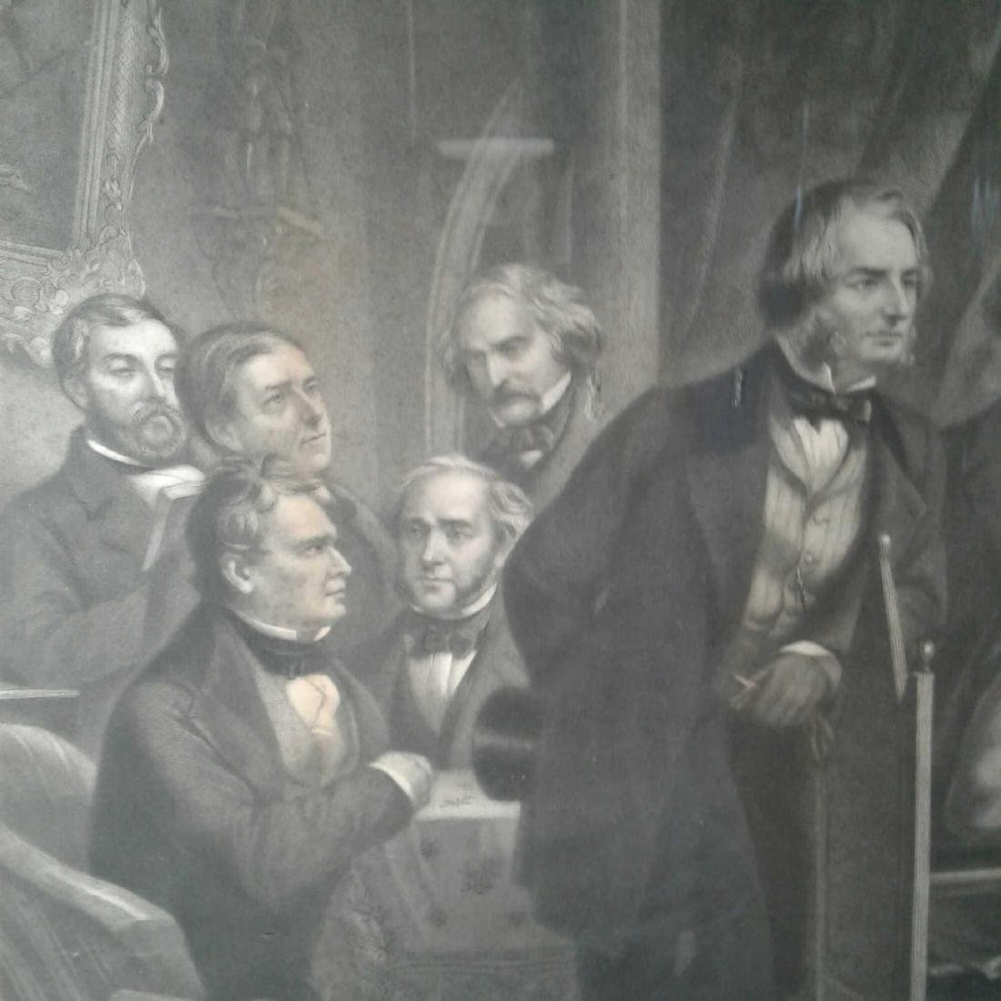 "Framed Print of ""Washington Irving and His Literary - 2"