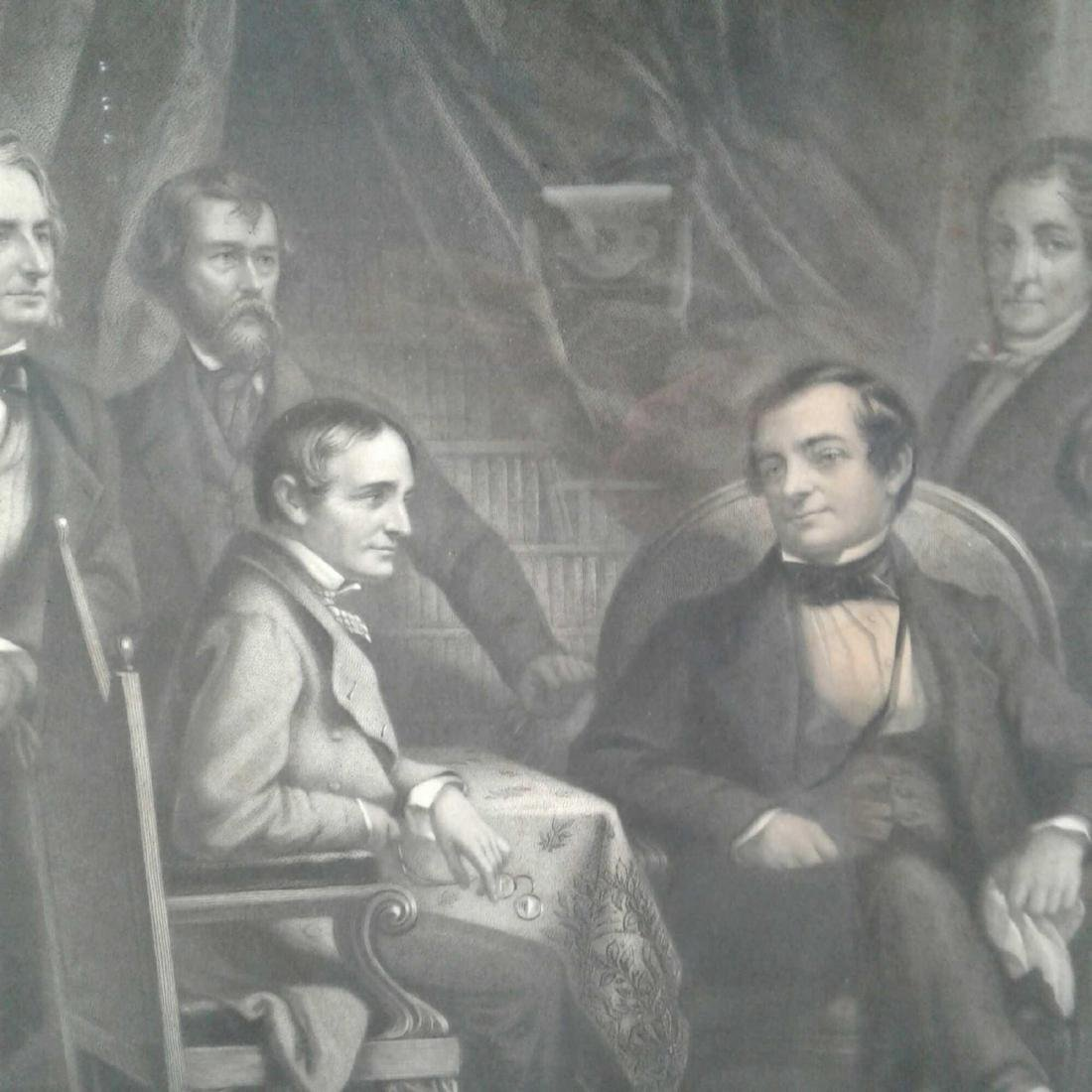 "Framed Print of ""Washington Irving and His Literary - 3"