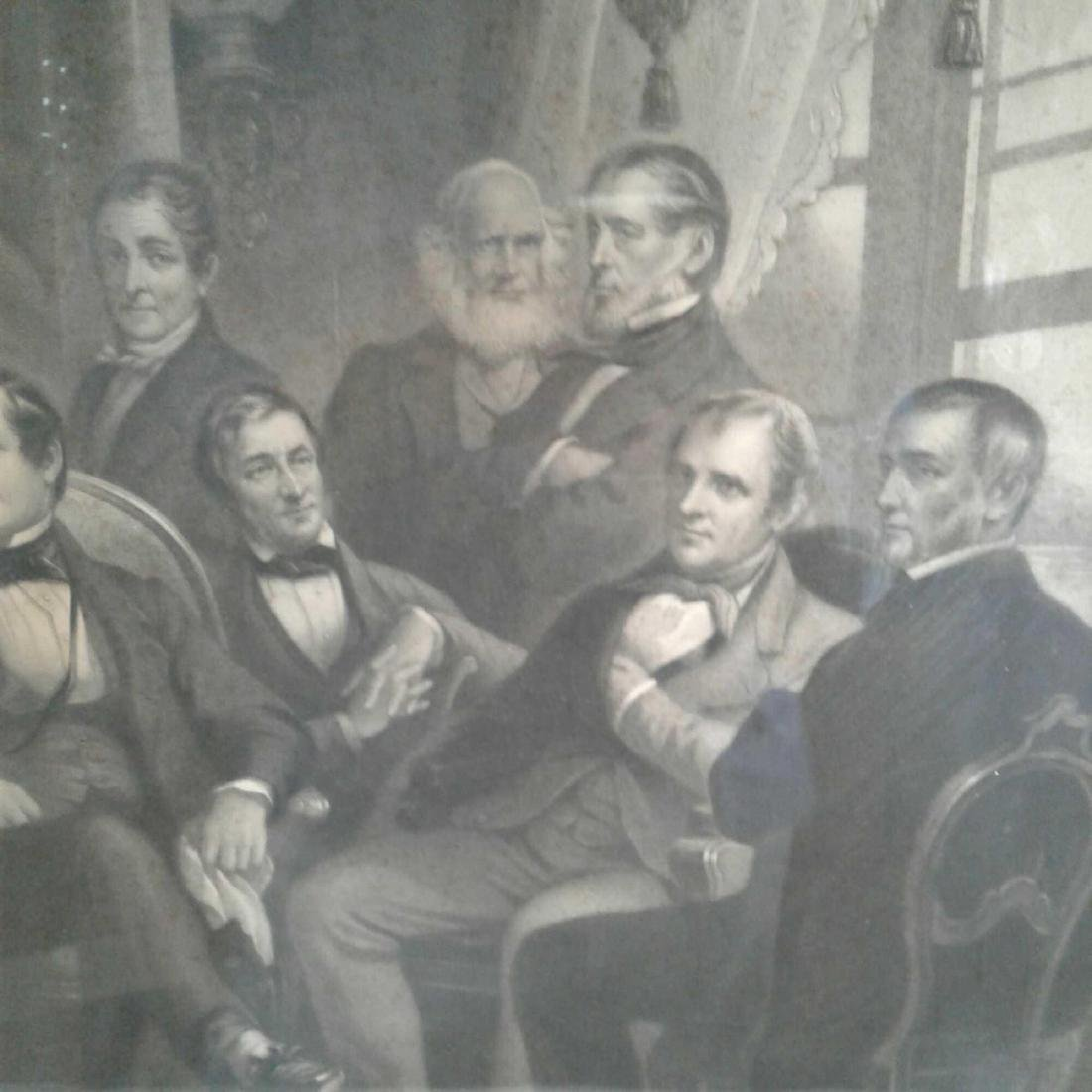 "Framed Print of ""Washington Irving and His Literary - 4"