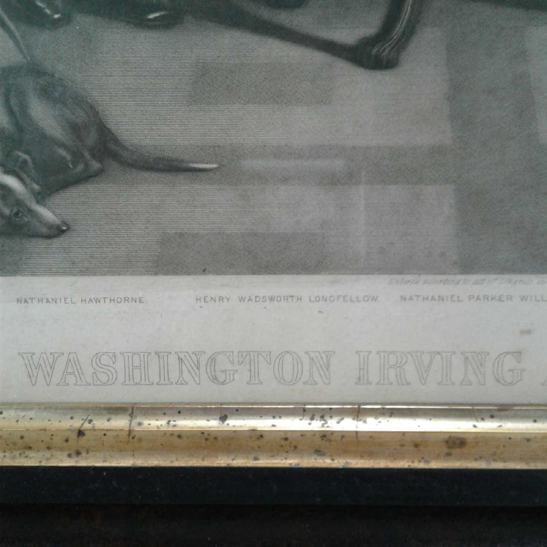 "Framed Print of ""Washington Irving and His Literary - 7"