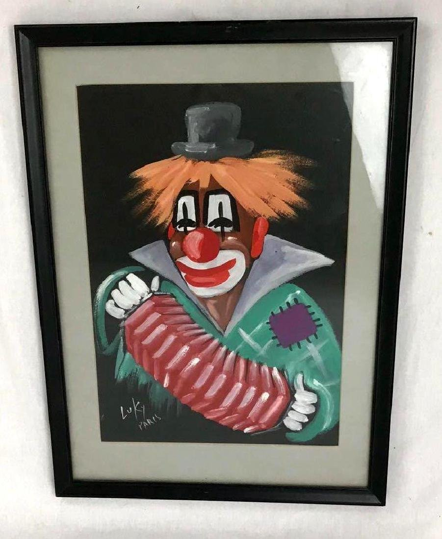 Luky Paris Clown with Accordion Framed Art - 2