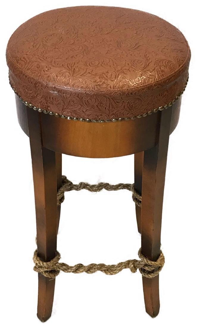 Unique Leather Top Bar Stool