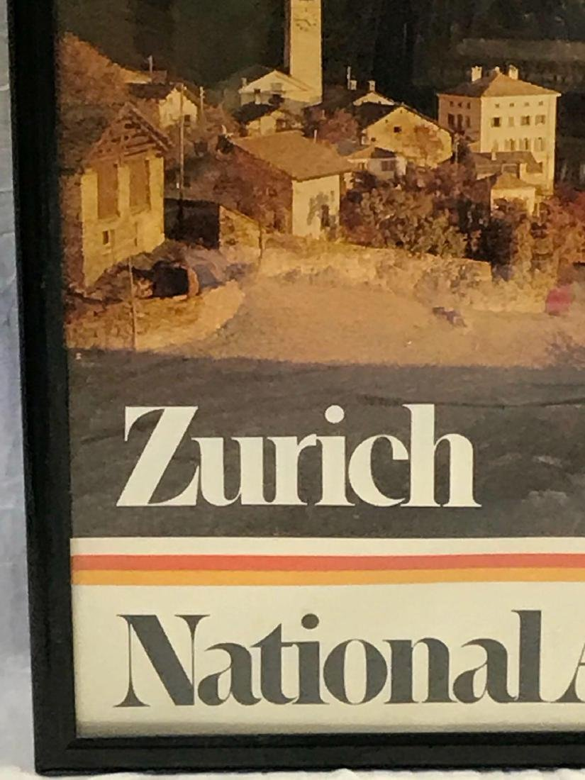 Vintage National Airlines Travel Poster Zurich - 4