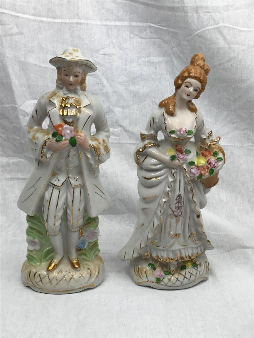 Set of Porcelain Figurines, Young Man, Young Woman - 2