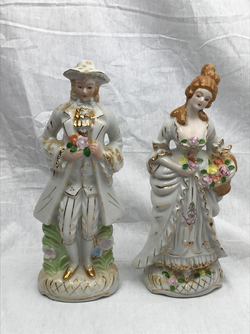 Set of Porcelain Figurines, Young Man, Young Woman - 3