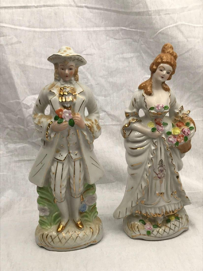 Set of Porcelain Figurines, Young Man, Young Woman - 4
