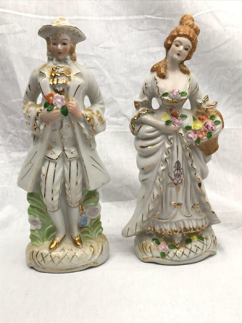 Set of Porcelain Figurines, Young Man, Young Woman - 5