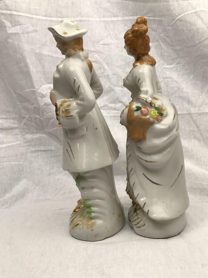 Set of Porcelain Figurines, Young Man, Young Woman - 6