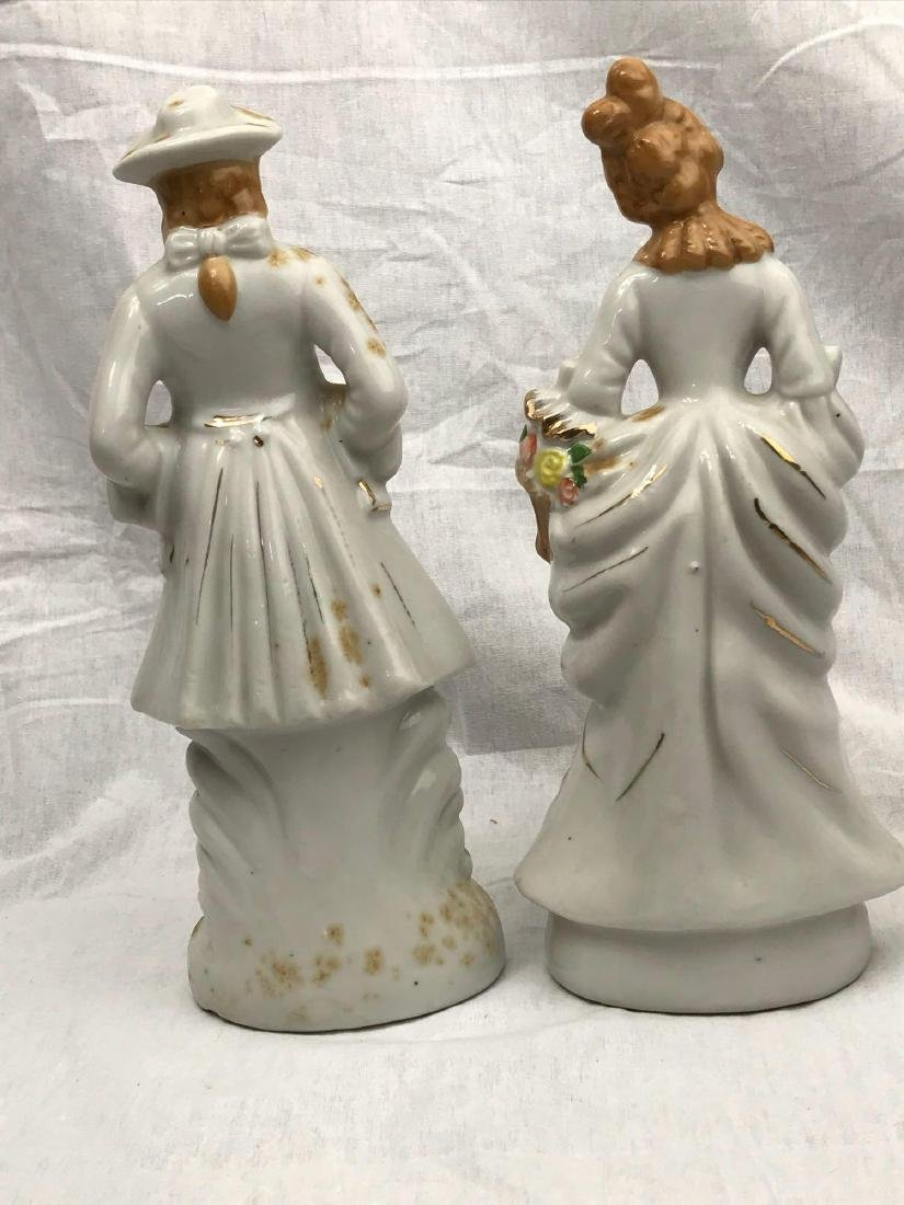 Set of Porcelain Figurines, Young Man, Young Woman - 7