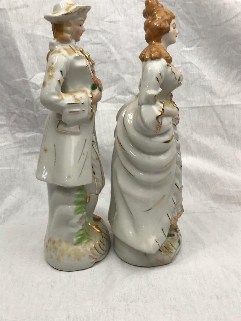 Set of Porcelain Figurines, Young Man, Young Woman - 8