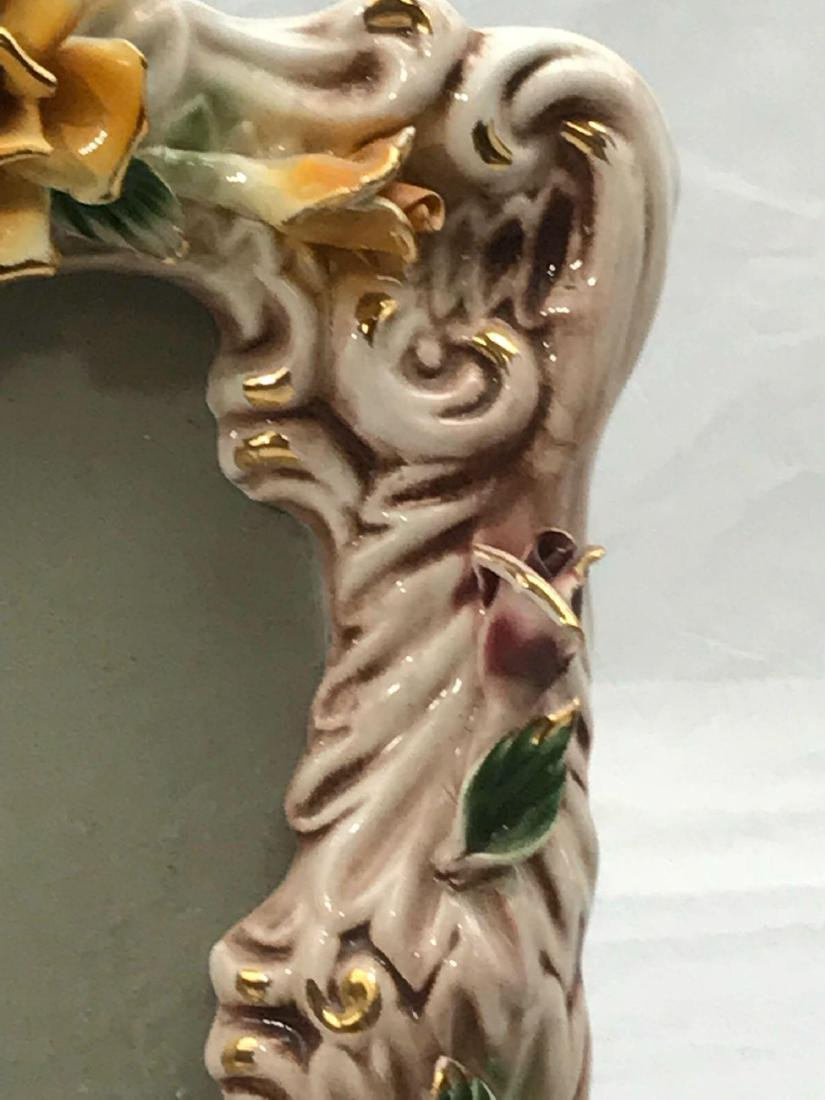 Vintage Capodimonte Porcelain Picture Frame, Marked - 10