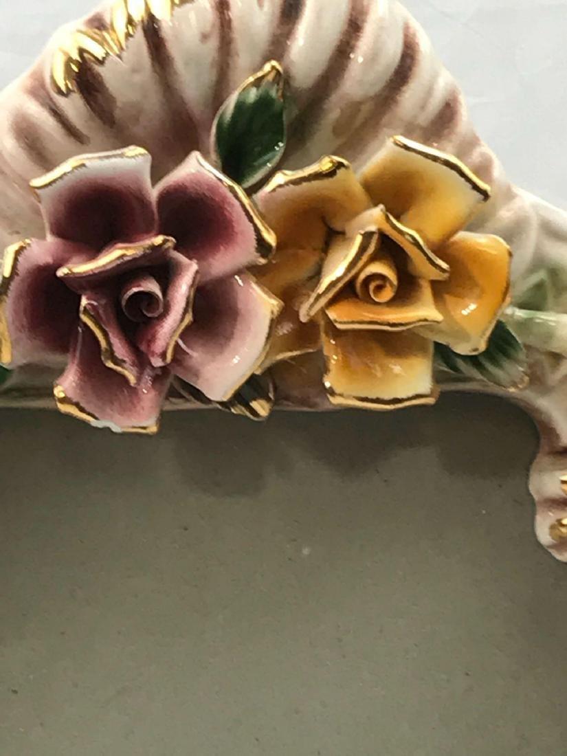 Vintage Capodimonte Porcelain Picture Frame, Marked - 5