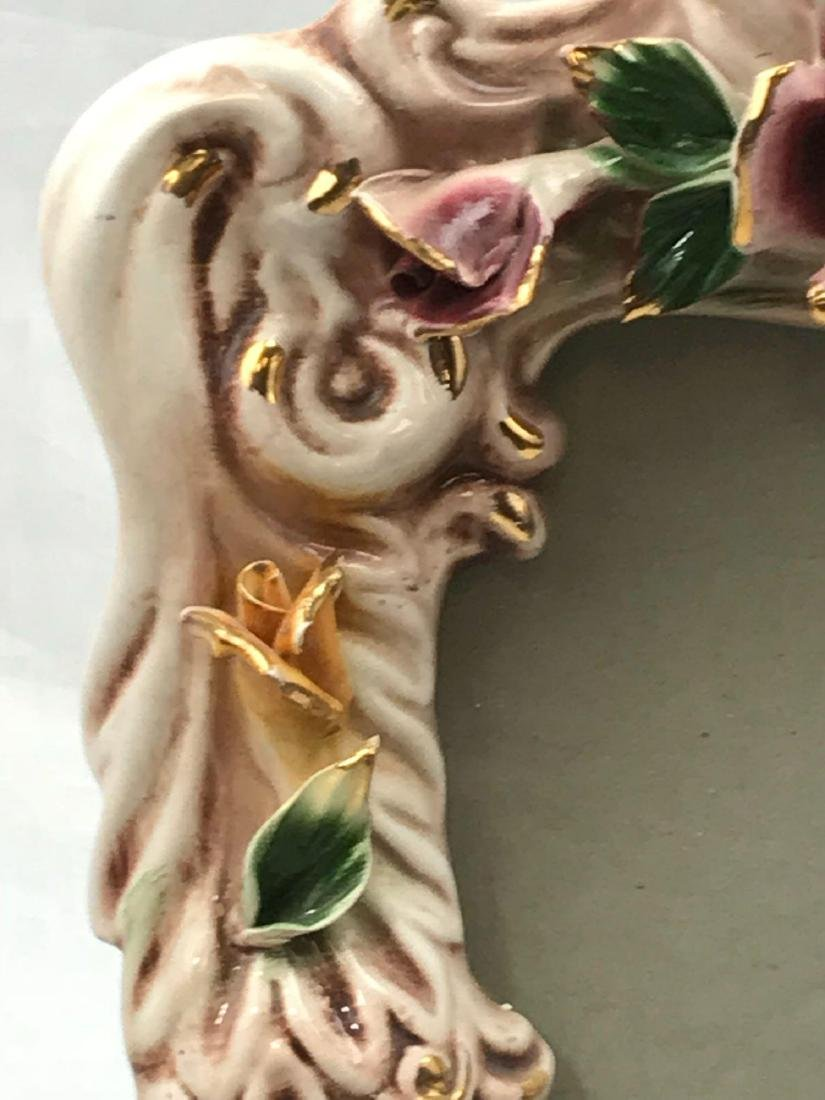 Vintage Capodimonte Porcelain Picture Frame, Marked - 6
