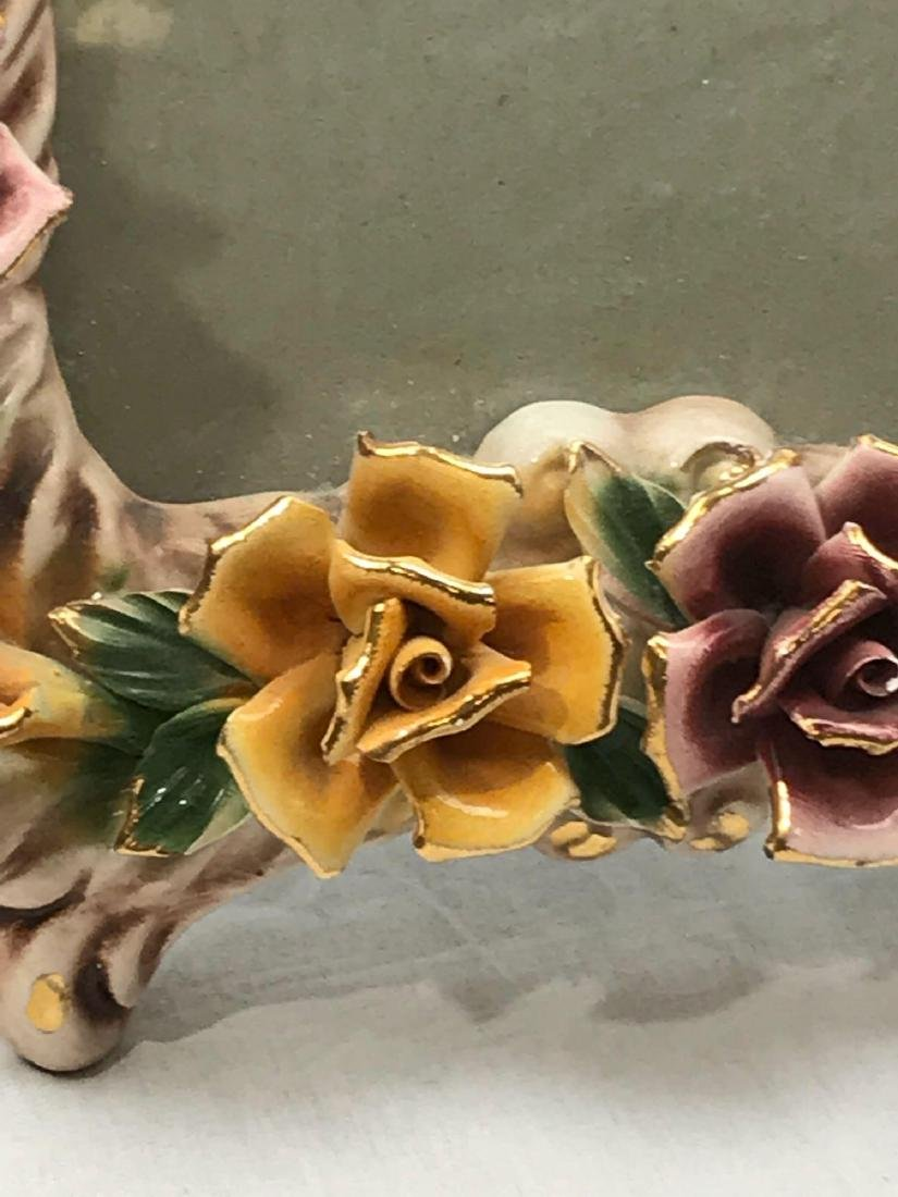 Vintage Capodimonte Porcelain Picture Frame, Marked - 8