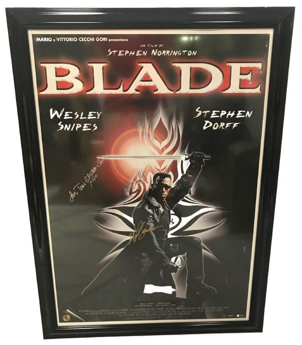 Collectible Movie Poster, Blade, Signed by Cast