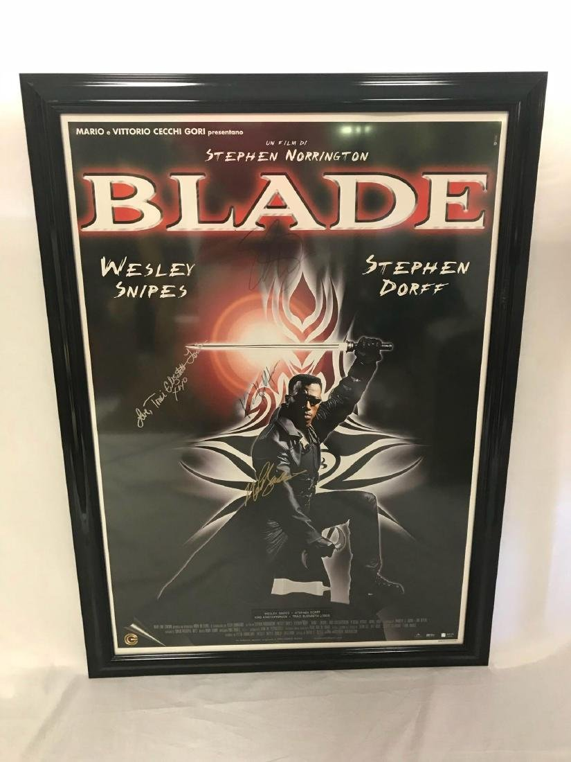Collectible Movie Poster, Blade, Signed by Cast - 2