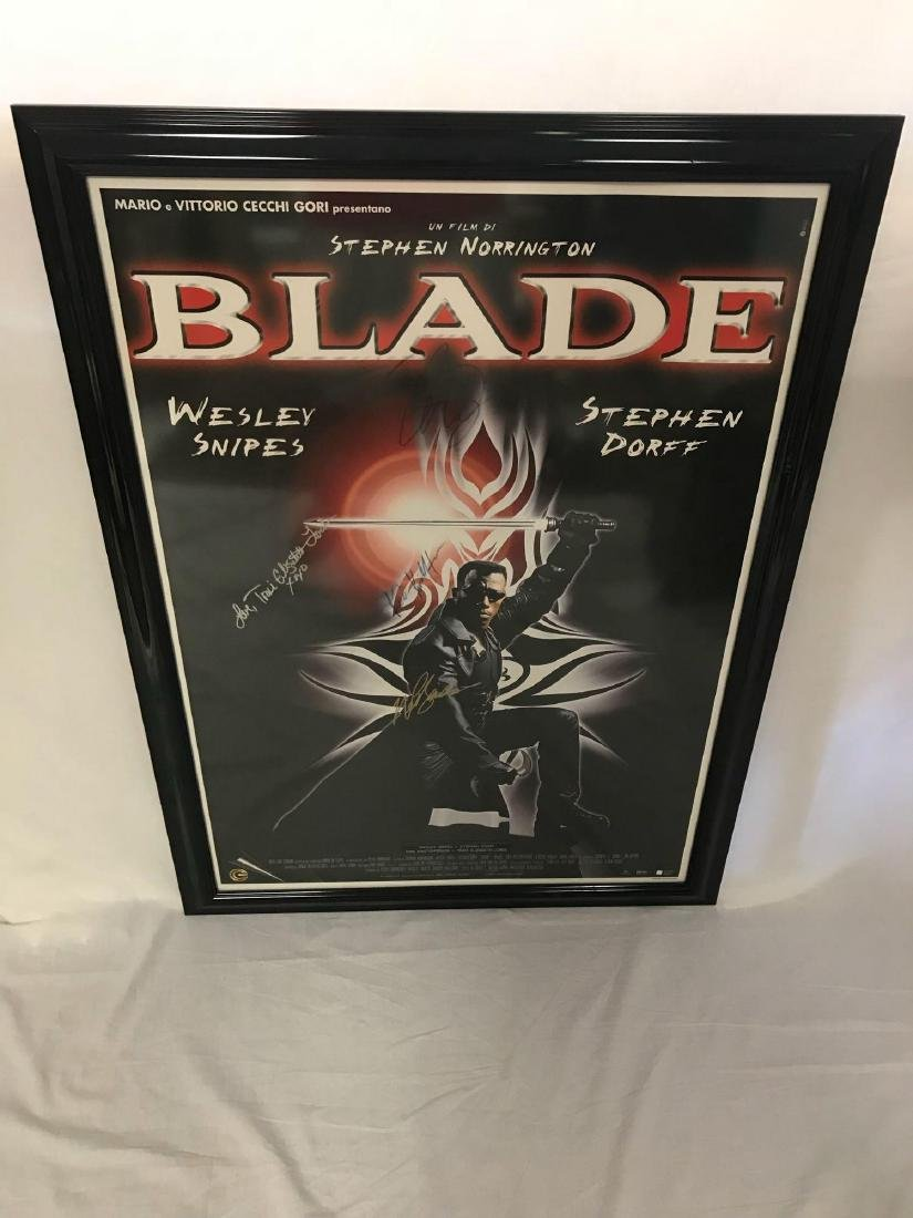 Collectible Movie Poster, Blade, Signed by Cast - 3