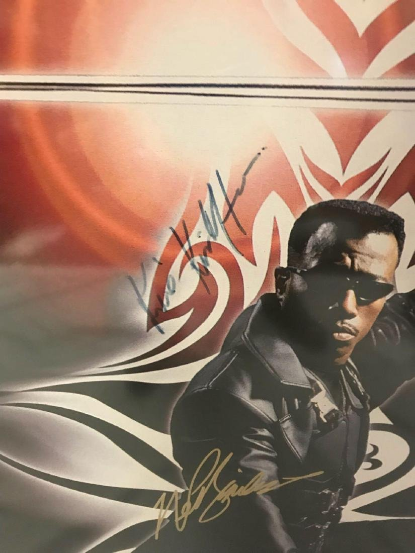 Collectible Movie Poster, Blade, Signed by Cast - 4