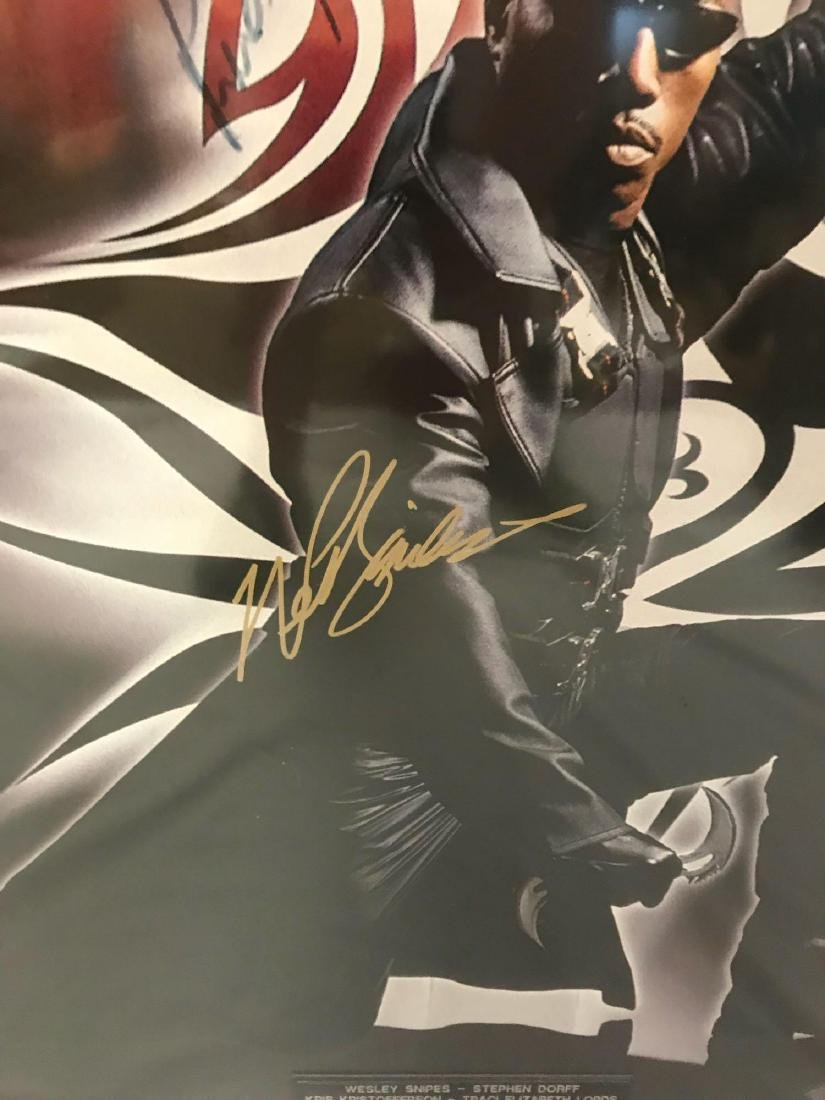 Collectible Movie Poster, Blade, Signed by Cast - 5