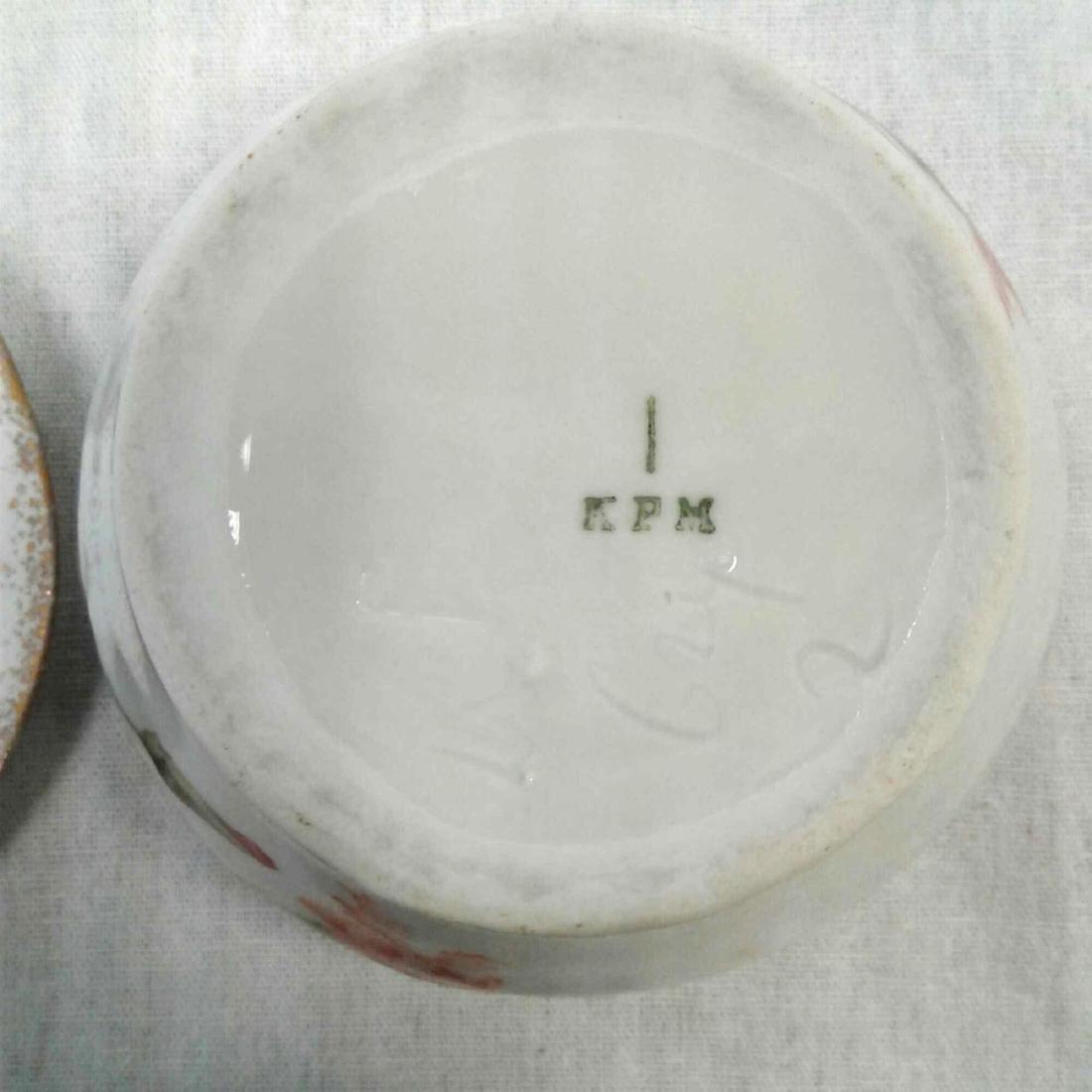 KPM Porcelain Lidded Trinket Dish - 7
