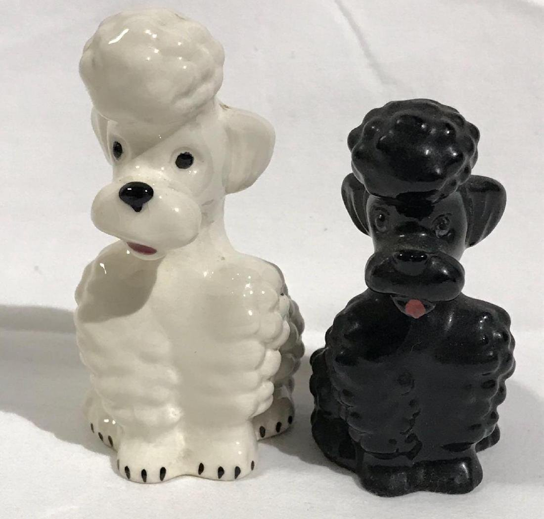 2 Goebel Poodle Ceramic Dog Figurines