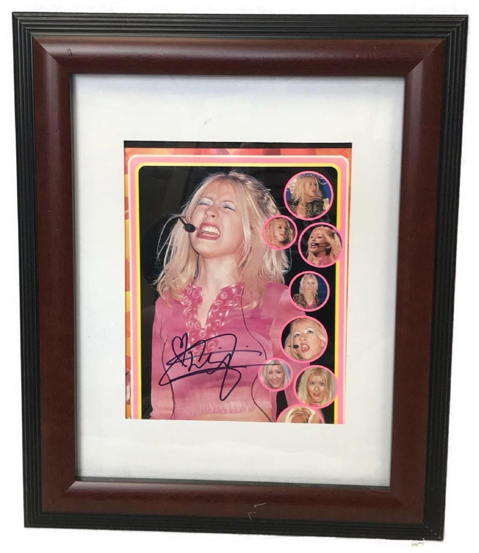 Christina Aguilera Signed and Framed Photograph
