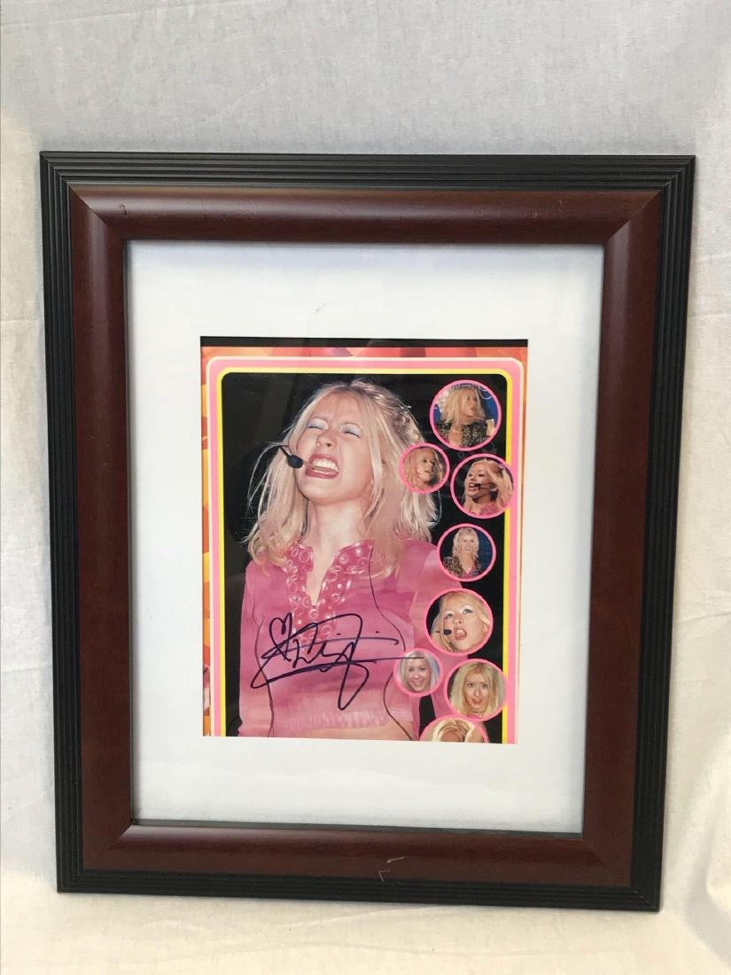 Christina Aguilera Signed and Framed Photograph - 2