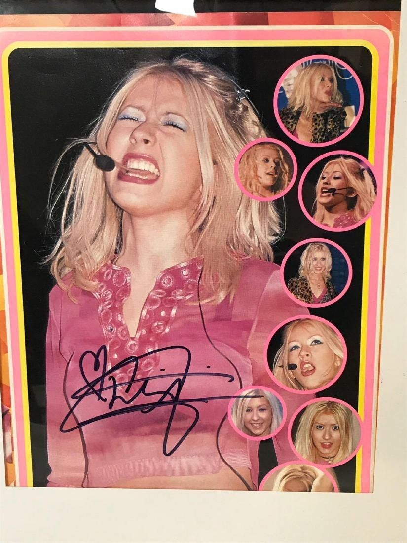 Christina Aguilera Signed and Framed Photograph - 3