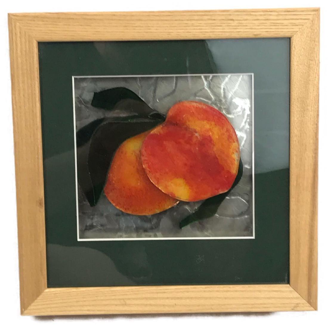 Original Glass Art, Peaches by Karen M van Beest