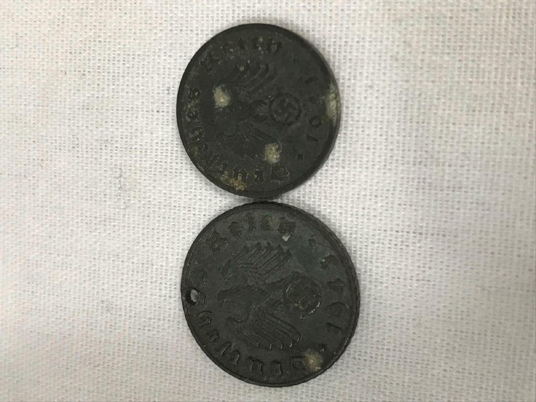 Two German Coins, One Pre WWI, One WWII Period - 3