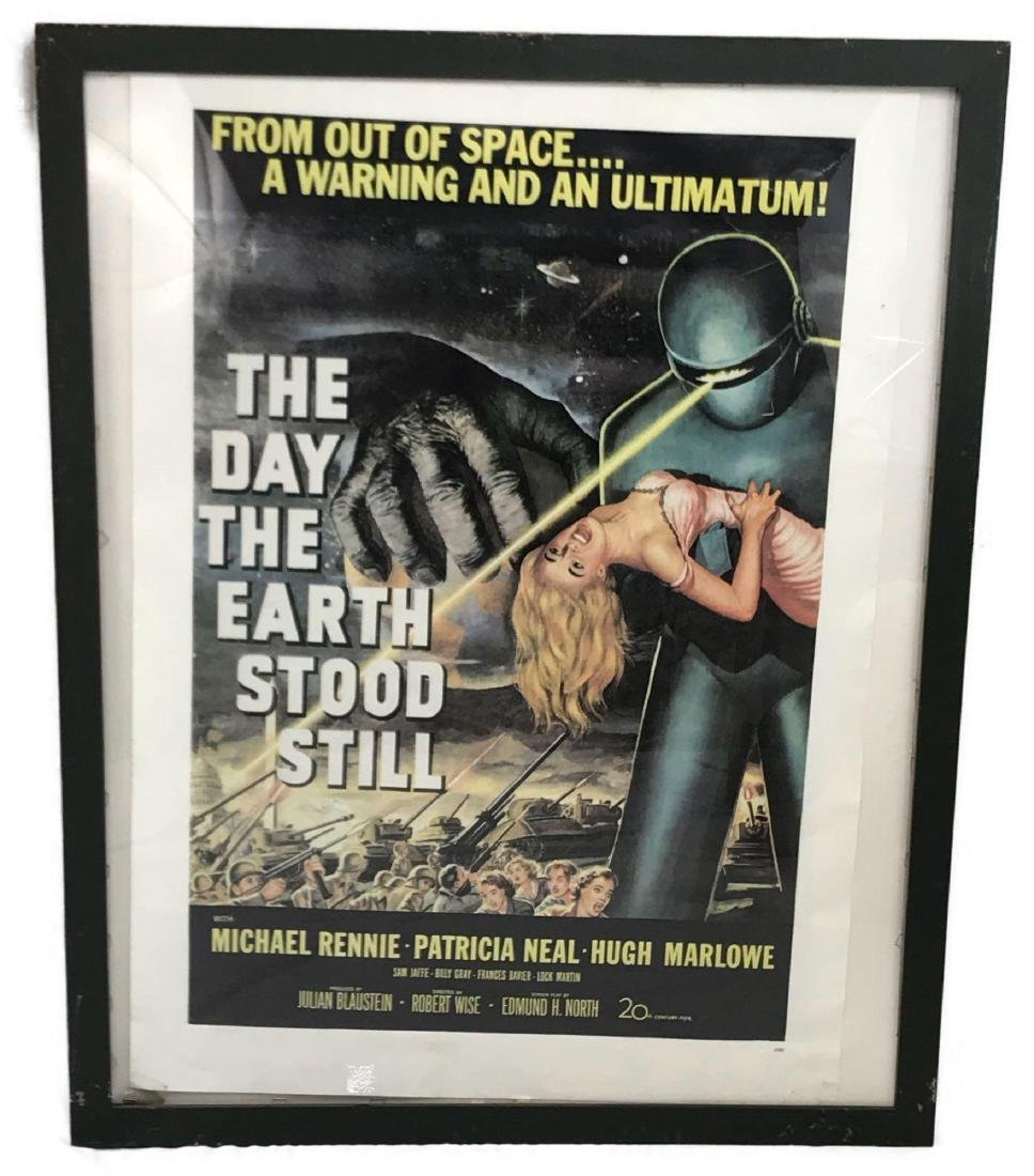 Vintage Movie Poster, The Day the Earth Stood Still,