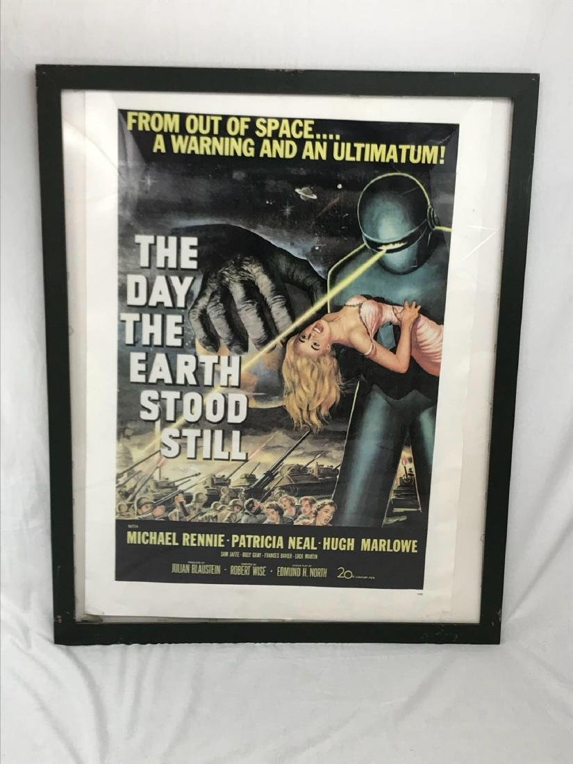 Vintage Movie Poster, The Day the Earth Stood Still, - 2