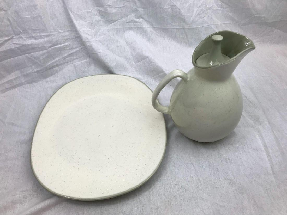 Sleek Mid-Century Modern Pitcher and Serving Tray