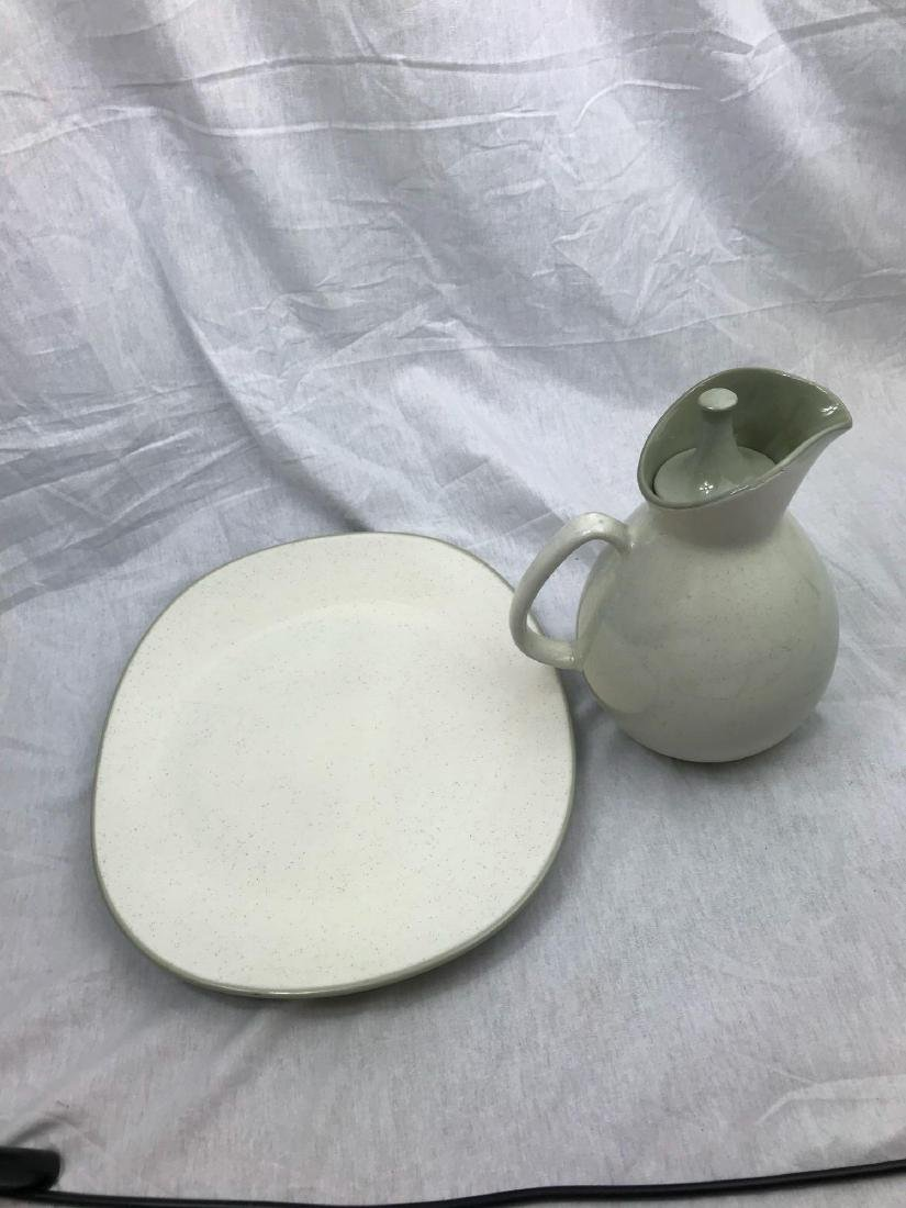 Sleek Mid-Century Modern Pitcher and Serving Tray - 2