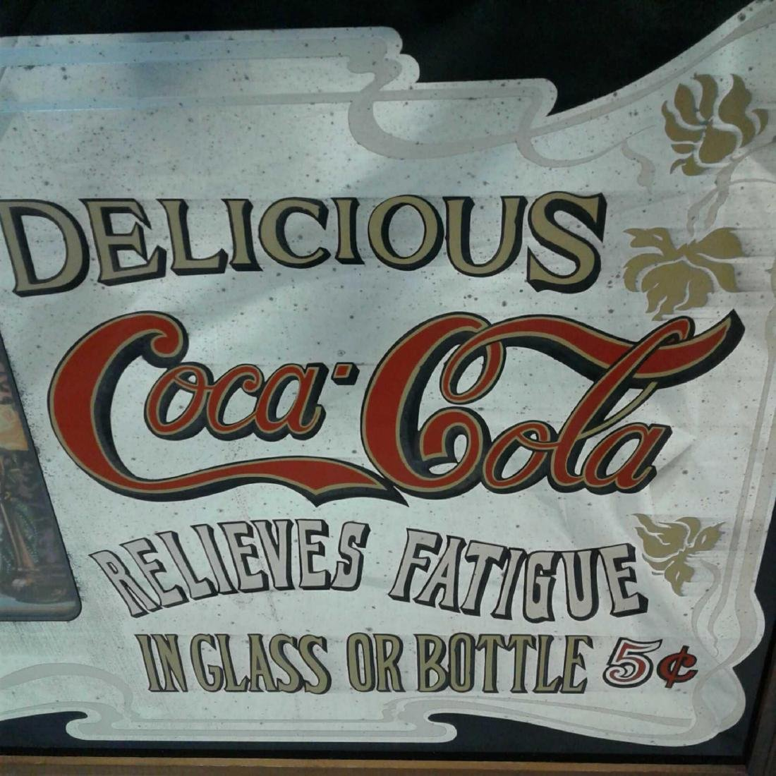 Framed Vintage Style Coca Cola Advertising Sign - 3